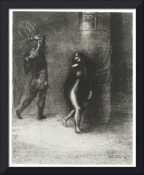 Odilon Redon ... THROUGH ITS LONG HAIR COVERING HE