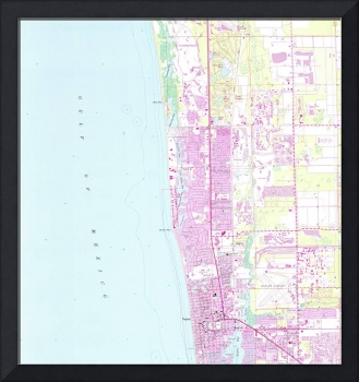Vintage Map of Naples Florida (1958)
