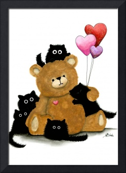 Black Cat Bear Hugs