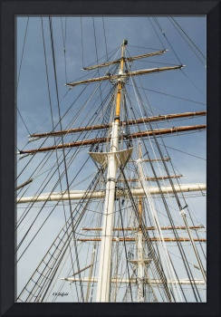 Tall Ship Elissa Masts and Rigging