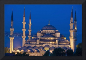 The Sultanahmet Or Blue Mosque At Dusk Turkey