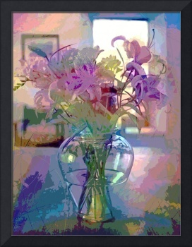 Lilies in Glass
