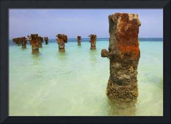 Rusted Iron Pier of Aruba