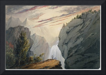 At the Waterfall, c.1850 by David Claypoole Johnst