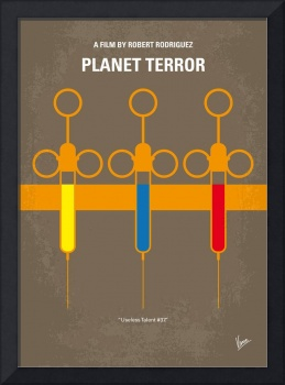 No165 My Planet terror minimal movie poster