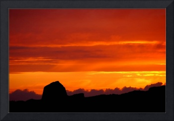 Doune Carloway Broch Against a Dramatic Sunset
