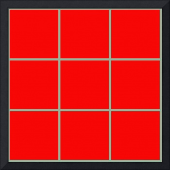 Red Window 099 Canvas Contemporary Modern