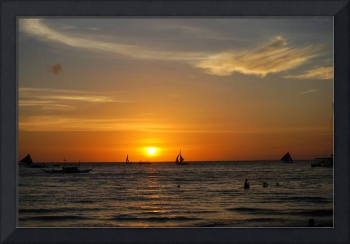 Sunset in Boracay, the Philippines