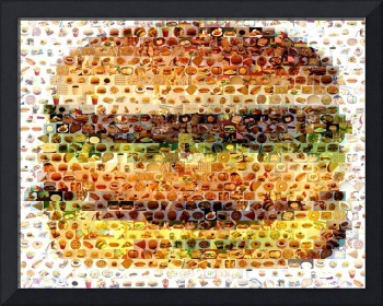 Cheeseburger...Amazing Montage Mosaic illusion pop