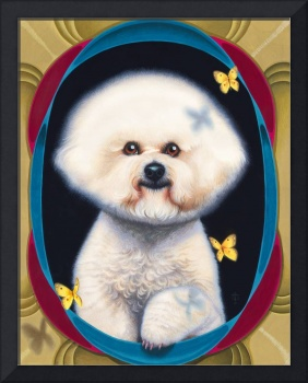 'Bijou and the Butterflies' - Bichon Frise