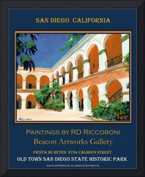 California Courtyard Poster by Riccoboni