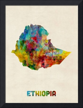 Ethiopia Watercolor Map