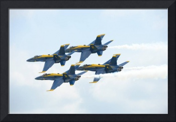 The U.S. Navy flight demonstration squadron, the B