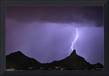 Pinnacle Peak Lightning Bolt