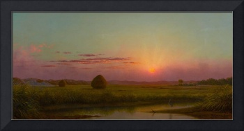 Lynn Meadows, 1863 (oil on canvas), Heade, Martin