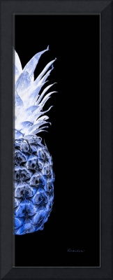 14JR Artistic Glowing Pineapple Digital Art Blue