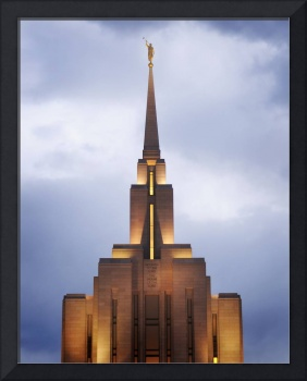 Oqurrih Mountain LDS Temple Evening Lights