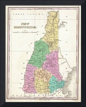 Vintage Map of New Hampshire (1827)