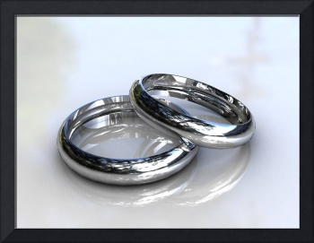 Platinum Wedding Bands - 3D