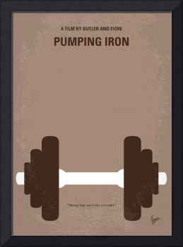 No707 My Pumping Iron minimal movie poster