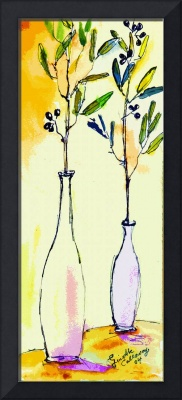 Olive branches in Vase Modern Decor