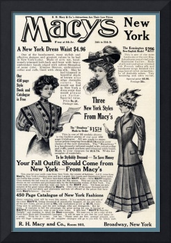Advertisement: Macy's Fashion Ad October 1907