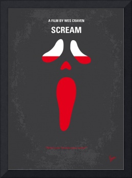 No121 My SCREAM minimal movie poster