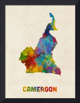 Cameroon Watercolor Map