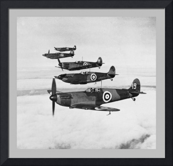 Supermarine Spitfire Formation with border