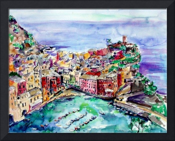 Vernazza Italy Cinque Terre Painting by Ginette