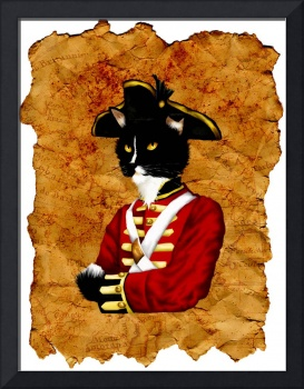Cat Art British Red Coat Soldier