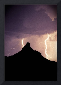 Pinnacel Peak Arizona Lightning Storm