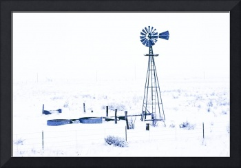 Windmill in Snow Strom