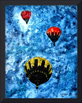 hot air ballooons painting