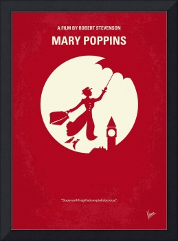 No539 My Mary Poppins minimal movie poster