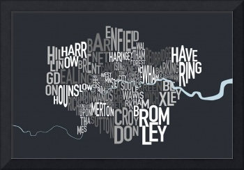 London UK Text Map