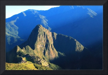 Sunlight Beams on Machu Picchu Peru