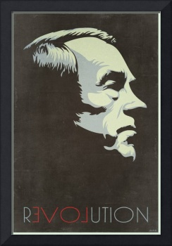 Ron Paul Revolution Vintage Print