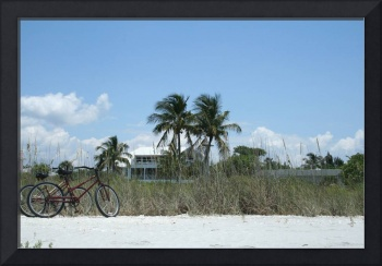 Florida beach and bikes