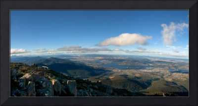 View from Mount Wellington in Hobart Tasmania