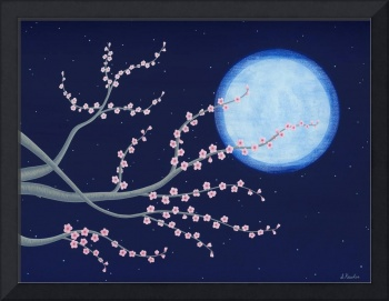 Plum Tree With Full Moon