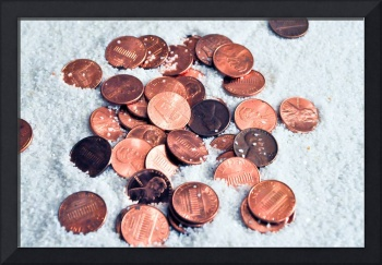 Pennies in the sand