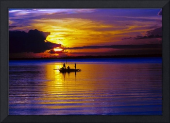 A Fisherman's Sunset