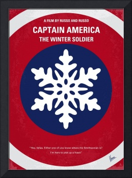 No329 My CAPTAIN AMERICA - 2 minimal movie poster