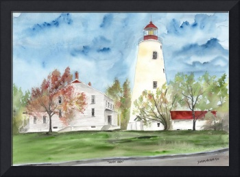 SANDY HOOK LIGHTHOUSE POSTER