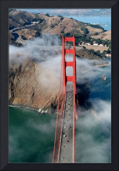 Aerial Golden Gate Bridge North Bay