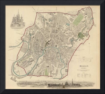 Vintage Map of Moscow (1836)