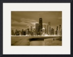 Chicago Skyline (monochrome) by Dave Wilson