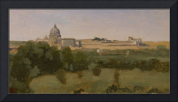 View of St. Peter's, Rome, 1826 (oil on paper moun