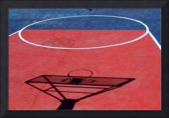 Shadow On a Basketball Court